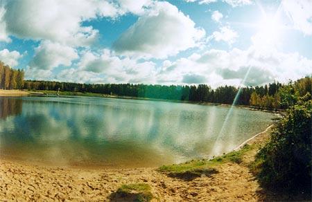 Chernogolovka. Lake.