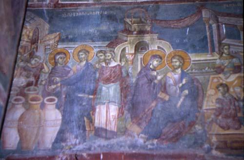 брак в кане галилейской фреска ц ви св андрея на треске рес