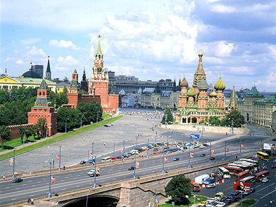 Кремлевская стена и Красная площадь