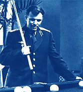 Y.Gagarin playing pool